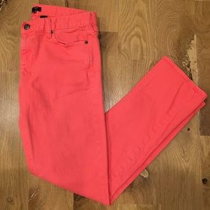 J. Crew Matchstick Coral Jeans